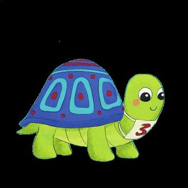 illustration pour enfant d'une tortue